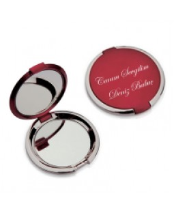 Kırmızı Üzerine İsim Yazılabilen Bayan Aynası