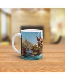 Osmanlı Donanması Tasarımlı Kupa Bardak