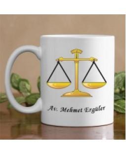 Ben Avukatım Beyaz Kupa Kişiye Özel Hediye