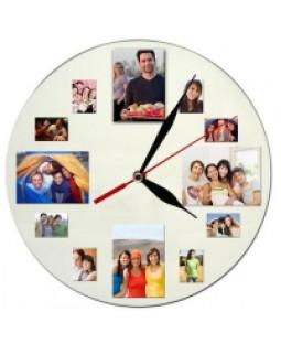 12 Fotoğraf Rakamlı Duvar Saati