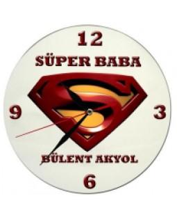 Süper Baba Duvar Saati