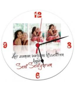 Annelere Özel Fotoblog Duvar Saati