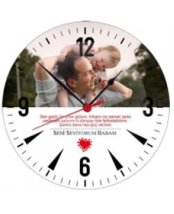 Canım Babam - Cam Duvar Saati