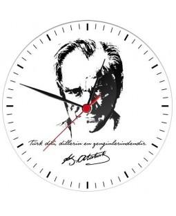 Atatürk Baskılı Saat