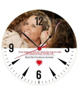 Canım Annem - Cam Duvar Saati
