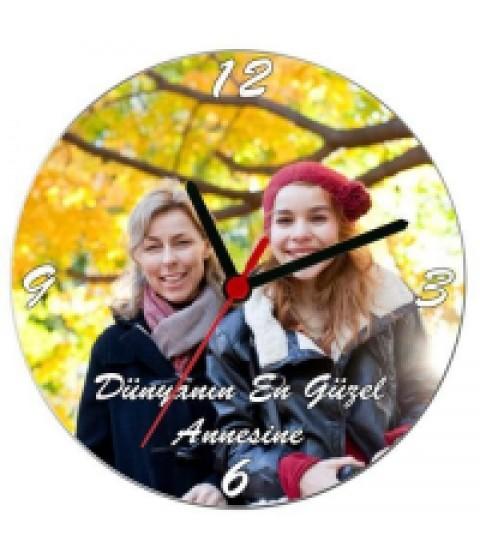Annelere Özel Duvar Saati - Kişiye Özel Fotoğraf Baskılı