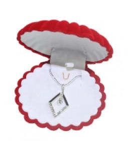 Zirkon Taşlarla Bezenmiş 925 Ayar Gümüş Kaplama Kolye