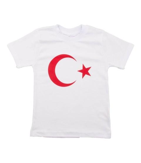 Ay Yıldız Beyaz Tshirt