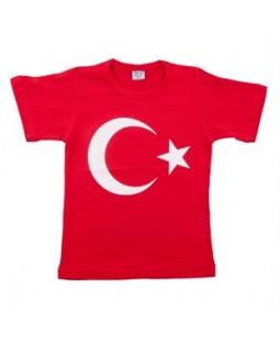 Ay Yıldız Kırmızı Tshirt (Çocuk)