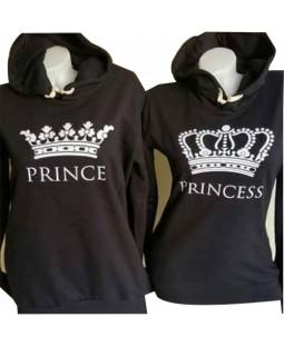 Sweat Tişört Uzun Kollu Prenses ve Prens
