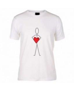 Sevdiğime Kocaman Kalbim T-shirt
