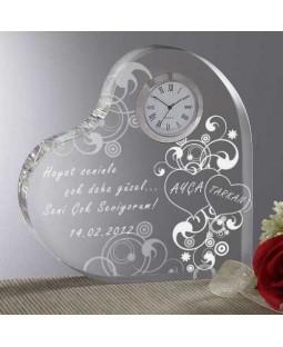 Size ve Sevgilinize Özel Saatli Kalp Ödülü