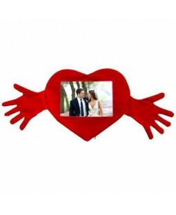 Romantik Kalpli Kollu Yastık