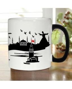 İstanbul Silueti Sihirli Kupa Bardak