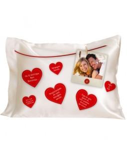 Sevgiliye Konuşan Kalpler Yastık