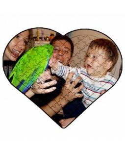 Resim Basılabilir Ayaklı Kalp Puzzle