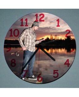 Resim Baskılı Yuvarlak Duvar Saati