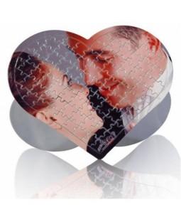 Resim Basılabilir 97 Parça Ayaklı Çerçeveli Büyük Boy Kalp Puzzle