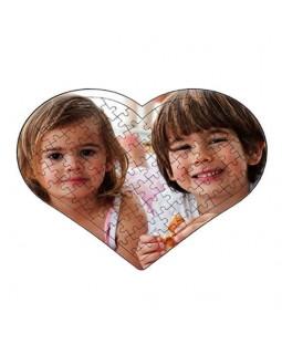 Resim Basılabilir 88 Parça  Kalp Puzzle