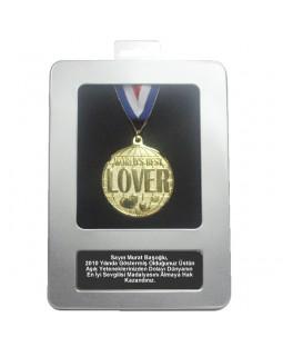 Kişiye Özel Dünyanın En İyi Sevgilisi Madalyası