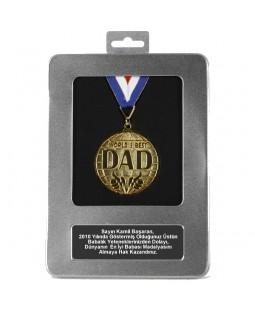 Kişiye Özel Dünyanın En İyi Babası Madalyası