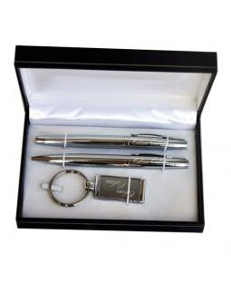 İsme Özel İkili Kalem ve Anahtarlık Seti - Mesajlı Lüx Kutusuyla