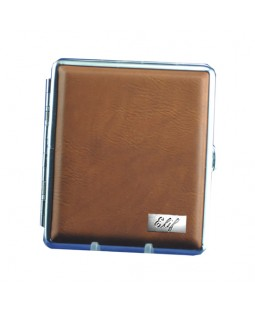 Kişiye Özel Deri Kaplı Sigara Tabakası - Gümüş Plakalı