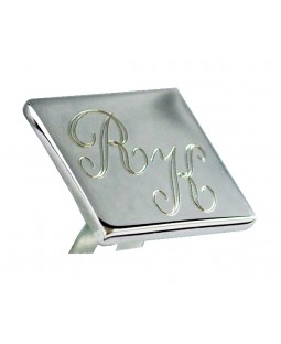 Isim Baş Harfleri Yazılabilen 925 Ayar Gümüş Kol Düğmesi