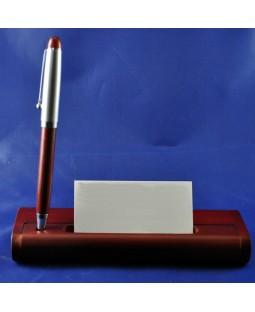 İsme Özel Metal Ve Ahşaptan Oluşan Masaüstü Kalem Seti - Kutu Mesajlı