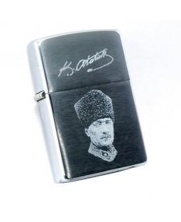 Kemal Atatürk Resim ve İmzası / Zippo Çakmak Hediyeli