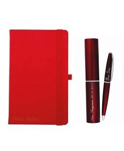 Kişiye Özel Defter ve Kalem Seti - Kırmızı