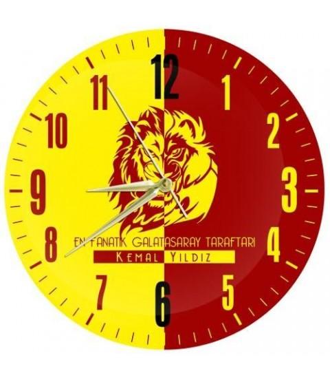 Sarı Kırmızı Taraftar Duvar Saati